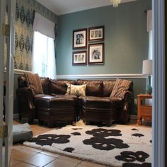 Living room, turquoise and chocolate brown   In my house ...