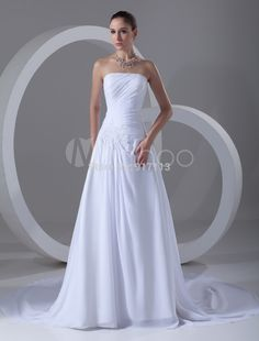 Find More Wedding Dresses Information about New Elegant White/Ivory A line Strapless Applique Wedding Dress Bridal Gown Custom Size 4 6 8 10 12 14 16 18+++,High Quality dress 2012,China dresses uk Suppliers, Cheap gown party dress from Rosesnowke  store on Aliexpress.com