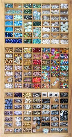 wooden bead display. I want this and I don't know why...
