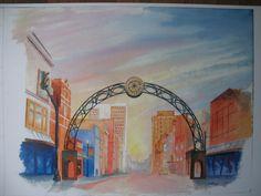Jon Fuchs, Main Street Print, $30, Arts Council of Southwestern Indiana 318 Main St. in downtown Evansville