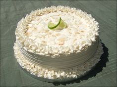 Vegan Coconut Lime Cake
