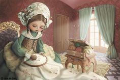 Bordado. Ilustradora: Nina de San (França).