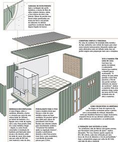 Por falta de espaço e de terreno, a solução para ter uma casa foi montá-la dentro de um contêiner de 14,40 m². Parece pouco, mas coube quarto, banheiro, cozinha...