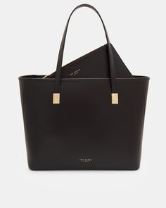 DIY - Handmade Purse and Wallet Ideas & Sew Recommendations - Wewer Fashion Ted Baker Large Tote Bag Black Leather Large Handbags, Black Handbags, Luxury Handbags, Purses And Handbags, Prada Purses, Cheap Handbags, Prada Tote, Hobo Handbags, Handbags Online