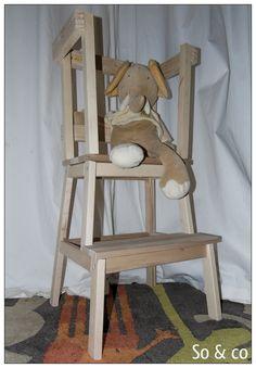 Tour d'apprentissage en bois brut Montessori