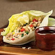 Chicken Recipe : Asian Chicken-Brown Rice Lettuce Wraps