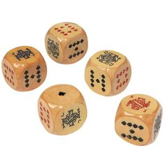 Large Bakelite 'Poker Dice'   From a unique collection of antique and modern games at http://www.1stdibs.com/furniture/more-furniture-collectibles/games/