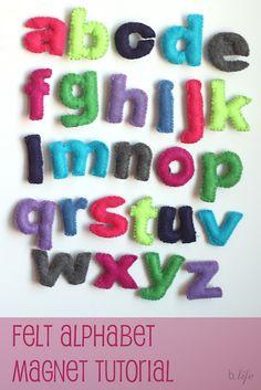 Better Life Blog: Felt Alphabet Magnets {Tutorial}