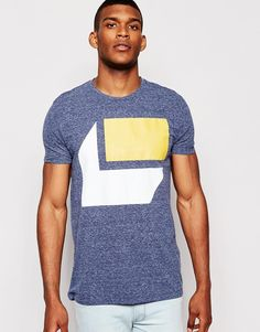 ASOS T-Shirt In Mouliniere With Block Print In Relaxed Skater Fit