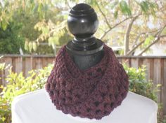 Infinity Eternity Cowl Neck Warmer Scarf by ClusterCrochet on Etsy
