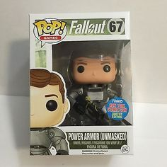 NYCC 2015 COMIC CON EXCLUSIVE Funko Pop! Fallout Power Armor (Unmasked) FALLOUT4