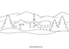 Disegno Paesaggio Invernale