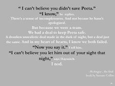 Hunger Games quotes - Haymitch, Katniss and Peeta