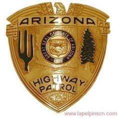 Arizona Highway Patrol Badge Hat Badge