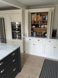 A beautiful example of our handmade kitchens # handmade kitchens A gr … – Painted Colorful Kitchen Cabinets Grey Kitchen Cabinets, Built In Cabinets, Kitchen Paint, Home Decor Kitchen, New Kitchen, Kitchen Design, Kitchen Worktop, Kitchen Ideas, Bespoke Kitchens