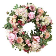 Jane Seymour Botanicals Garden Flowers Wreath