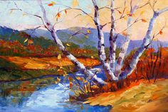 Impressionist autumn landscape painting Oil by artbymarion