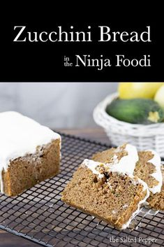 Perfectly Spiced Zucchini Bread in the Ninja Foodi is so easy to make and a great way to use up zucchini. Zucchini Loaf, Bread Recipes, Cooking Recipes, Breakfast Pastries, Breakfast Recipes, Baked Roast, Recipe Creator, Best Instant Pot Recipe, Quick Bread