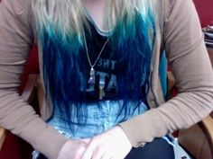 blue! wish my hair was platinum, itd look better with the blue