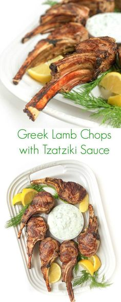 Greek Lamb Chops With Tzatziki Sauce - A fast 15 minute meal that your family will love!