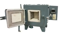 "This is Lucifer Furnaces' smallest chamber size:  6""x6""x6"" shown with optional Soak Timer."