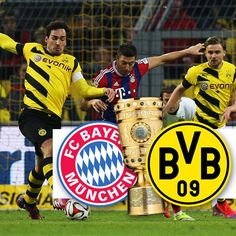 Once again Bayern Munich and Borussia Dortmund meet in the DFB Pokal. Tonight (28.4.2015) it's a semifinal clash that both teams want to win! Will it be FC Bayern or BVB? Whichever team you support you can shop for team football kits at www.soccerbox.com use coupon APR2015 and take 10% off your order!