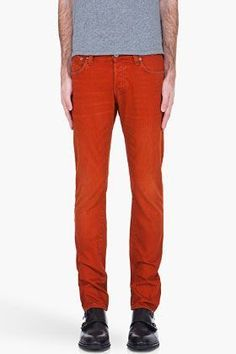 G-Star Rust Orange Super Slim Jeans for men   SSENSE