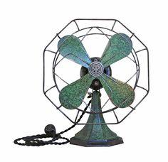 Vintage Art Deco Desk Fan - Cast Iron Green General Electric Fan on Etsy, $125.00