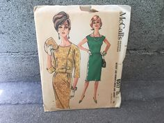 50's McCall's 6517 Pattern Misses' and Women's Dress and Jacket - Size 18 Bust 38 Factory Folded by ElkHugsVintage on Etsy