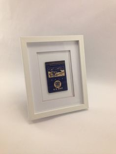 Vintage Navy Matchbook Cover Mounted in All White by StrikeMatchCo