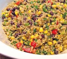 Quinoa Mexi-Lime Salad- had this for lunch today and it was amazing! Just use 1/4 cup oil not 2/3c. Yum!! ~B