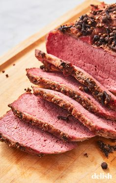 Forget Boiling—This Roasted Corned Beef Brisket Is The Ultimate - Forget Boiling—This Roasted Corned Beef Brisket Is The UltimateDelish - Slow Roasted Corned Beef, Corned Beef Brisket Oven, Cooking Corned Beef, Corned Beef Recipes, Corned Beef Boiled, Venison, Pork Recipes, Best Corn Beef Brisket Recipe, Bbq Corn