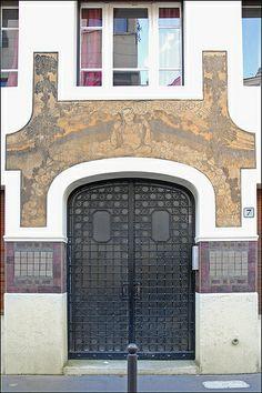 L'entrée de l'immeuble art nouveau (7 rue Lebouis, Paris) | Flickr: Intercambio de fotos