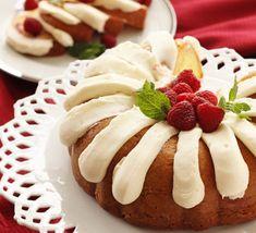 Homemade White Chocolate Raspberry Nothing Bundt Cake | AllFreeCopycatRecipes.com