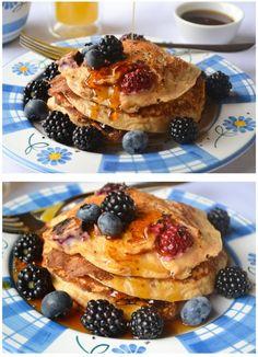 Lemon-Buttermilk Berry Pankcakes
