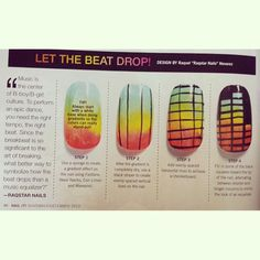 Equalizer tutorial I did for @Nail It Magazine