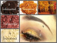 Use 4 Moodstruck Minerals Pigment Powders to create a AMAZING, Beautiful Look <3