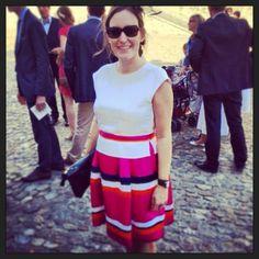 Pare che le nostre follower siano anche all'estero! Ecco l'experience di una nostra amica francese che per il suo evento speciale ha noleggiato questo splendido abito di Alberta Ferretti http://drexcode.com/prodotto/abito-in-raso-con-gonna-multicolour/ #drexcode #luxuryrent #wedding