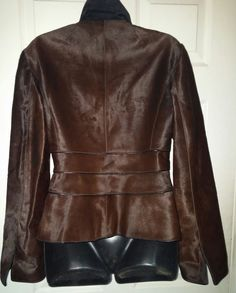M SIAMO PELLE LEATHER CALFSKIN PONY HAIR JACKET WOMENS SIZE 8 MADE ITALY #MSSIAMO #BLAZERSTYLE #Casual