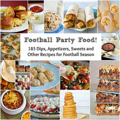 Football Party Food by Seeded at the Table, via Flickr