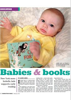 Manhattan Family magazine's Feb 2013 issue features the Phoenix Baby Book Club and my perspective on reading to babies, check out page 18 and 19 of the magazine here to read the story.