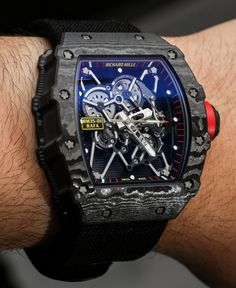 For 2014 Richard Mille has released yet another model in the now series of Rafael Nadal timepieces called the RM 35-01. Back in 2010 Richard Mille wowed not just the watch industry but the world when he placed a tourbillon-based timepiece on the Spanish tennis champion's wrist to be worn while playing the sport.