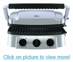The Sharper Image 8147SI Stainless-Steel Super Grill with Interchangeable Nonstick Plates #Sharper #Image #8147SI #Stainless_Steel #Super #Grill #Interchangeable #Nonstick #Plates