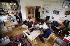 Hoffice gathers remote workers for doubly beneficial social work environment