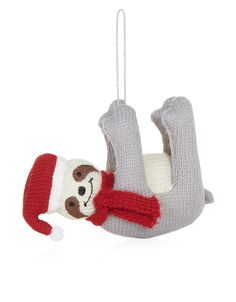 Knitted Hanging Sloth Decoration