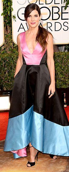 Sandra Bullock in Prabal Gurung, Golden Globes 2014