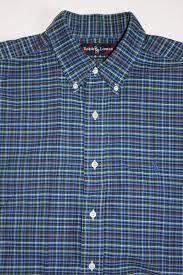 Twcx Mens Casual Buttons Loose Fit Long Sleeve Checked Lapel Cotton Checked Shirt