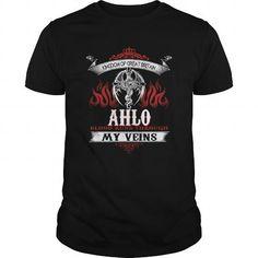Cool  AHLO  Blood Runs Through My Veins (Dragon) - Last Name, Sub Name Shirts & Tees #tee #tshirt #named tshirt #hobbie tshirts #ahlo