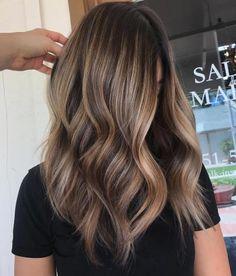 Coffee And Caramel Balayage Hair