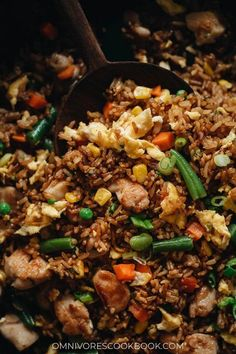 For a super-fast and delicious dinner, my chicken fried rice is there for you, full-flavored and faster than any delivery! The crispy rice is mixed with tender juicy chicken, crunchy veggies, and a savory sauce that tastes even better than the Chinese restaurant version. Healthy Chicken Recipes, Rice Recipes, Asian Recipes, Chinese Recipes, Coconut Recipes, Meal Recipes, Cookbook Recipes, Turkey Recipes, Dinner Recipes